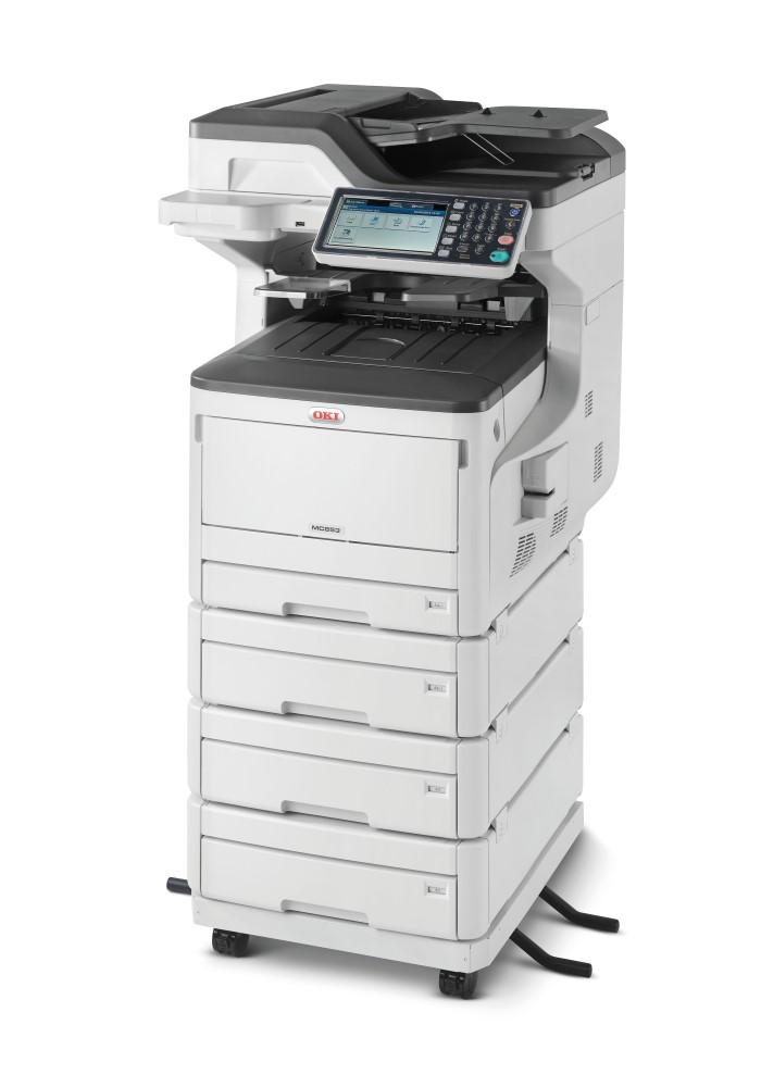 OKI MC853dnv/ A3/ 23ppm/ ProQ 2400 dpi / PCL+PS/ Duplex/ Fax/ ADF/ USB/ LAN