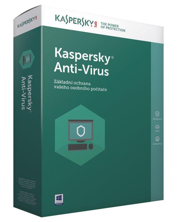Antivir Kaspersky Anti-Virus 2017 CZ 1 PC