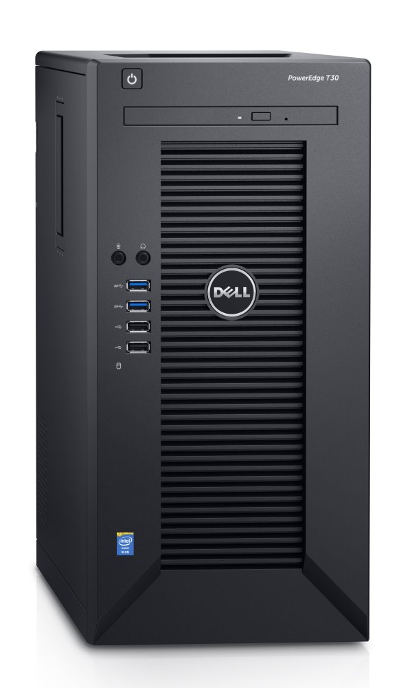 Server Dell PowerEdge T30 Server, Xeon E3-1225 v5, 8GB, 1TB SATA, DVDRW, GLAN, 3YNBD on-site