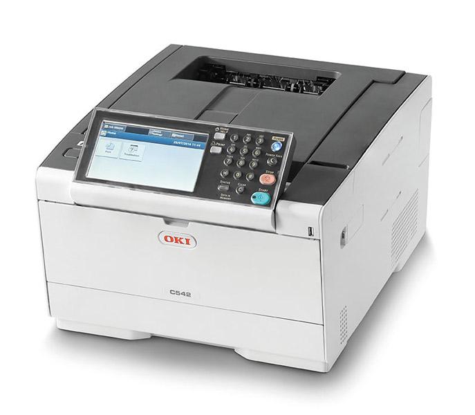 Laserová tiskárna OKI C542dn Barevná laserová tiskárna, A4 30/30 str/min, 1200x1200 dpi, 1GB RAM, PCL + PS, USB, LAN, Duplex