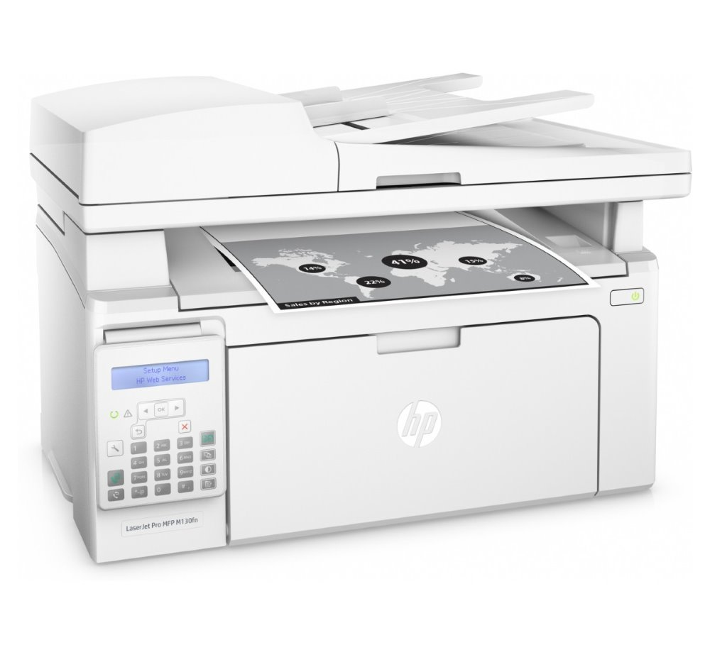 HP LaserJet Pro M130fn MFP/ A4/ 22ppm/ print+scan+copy+fax/ 600x600dpi/ USB/ LAN/ ADF