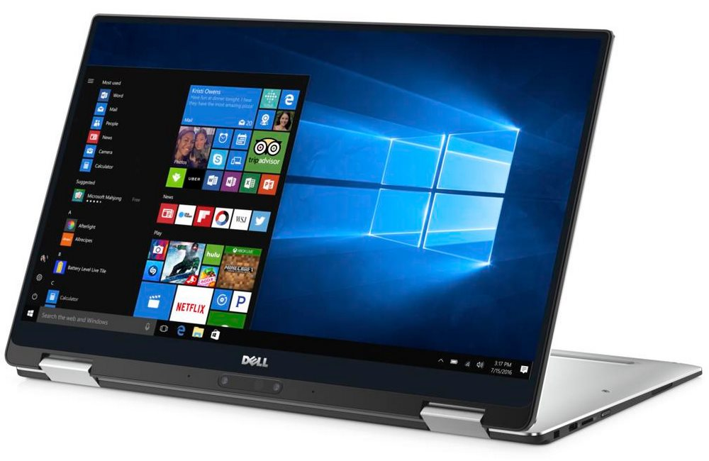 "Notebook Dell XPS 13 Touch (9365) Notebook, i7-7Y75, 8GB, 512GB SSD, 13.3"" QHD+ dotykový, W10 Pro, stříbrný, 3YNBD on-site"