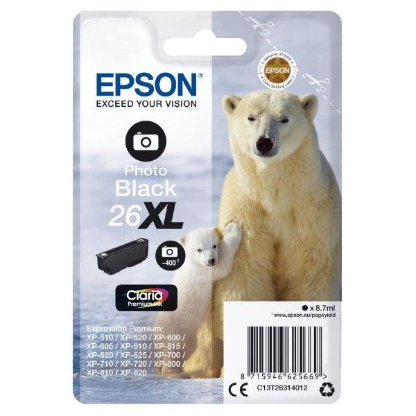 Epson inkoustová náplň/ T2631/ Singlepack 26XL Claria Premium Ink/ Foto Černá