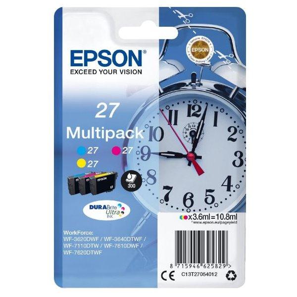 Epson inkoustová náplň/ T2705/ Multipack 27 DURABrite Ultra Ink/ 3x barvy