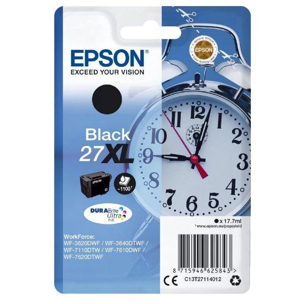 Epson inkoustová náplň/ T2711/ Singlepack 27XL DURABrite Ultra Ink/ Černá