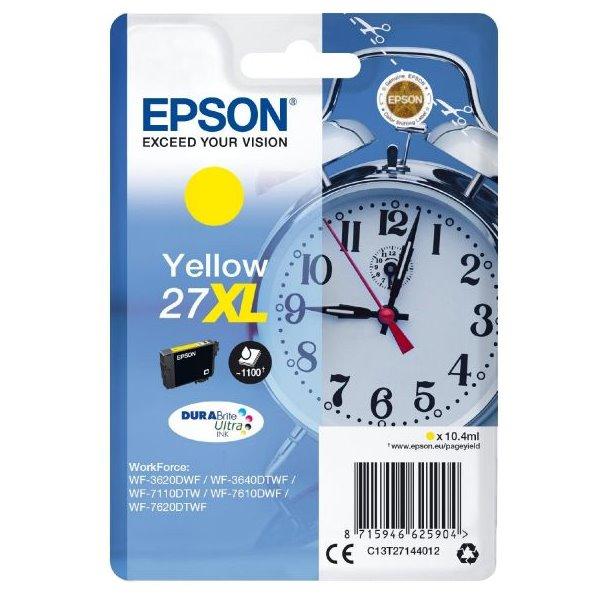 Epson inkoustová náplň/ T2714/ Singlepack 27XL DURABrite Ultra Ink/ Žlutá