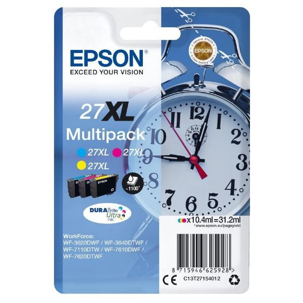 Epson inkoustová náplň/ T2715/ Multipack 27XL DURABrite Ultra Ink/ 3x barvy