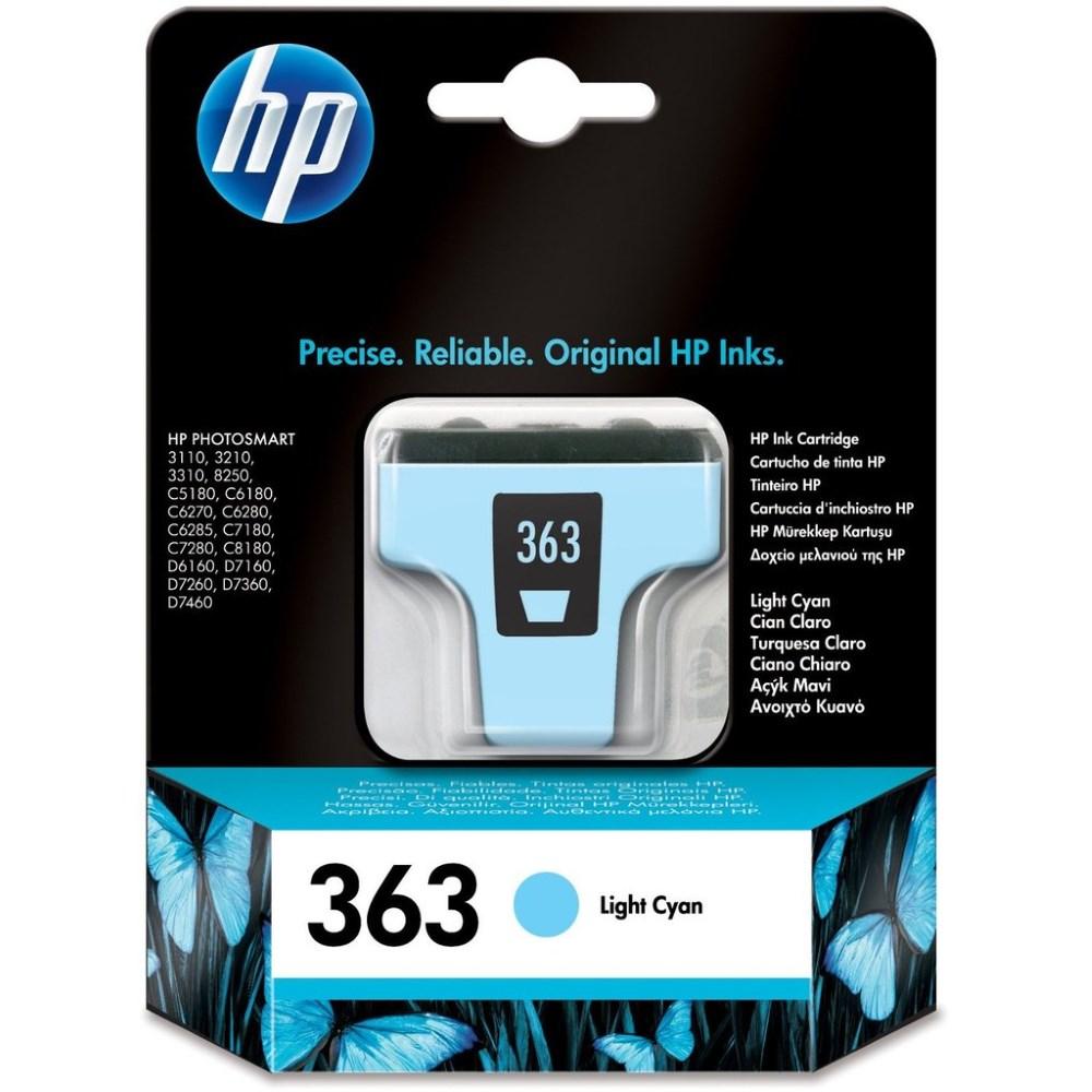 Inkoustová náplň HP 363 (C8774EE) světle modrá Inkoustová náplň, originální, pro HP Photosmart 3210, 3310, 8250, C5180, C6280, C7280, C8180, D7160, D7260, D7360, D7460, světle modrá