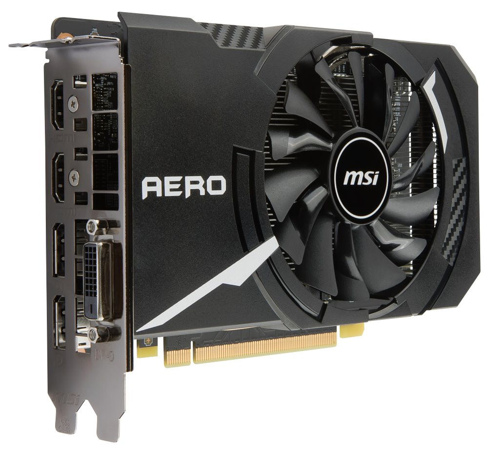Grafická karta MSI GeForce GTX 1060 AERO ITX 6G OC Grafická karta, PCI-E, 6GB DDR5, 2xHDMI, 2xDP, DVI