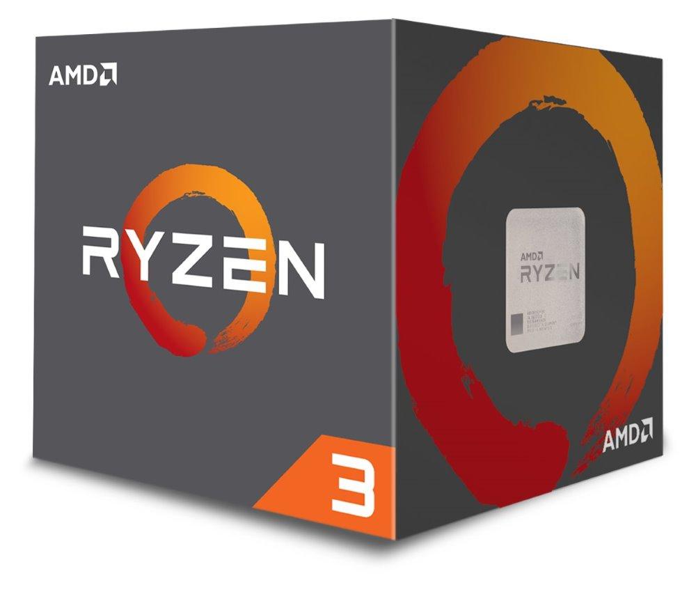Procesor AMD Ryzen 3 1300X Ryzen Procesor, 4 jádra, 4 vlákna, max. 3,7 GHz, 10 MB, LGA AM4, 65 W TDP, BOX s chladičem Wraith Stealth 65W