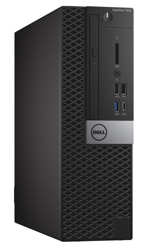Počítač Dell OptiPlex 7050 SF Počítač, i7-7700, 8GB, 1TB (7200), DVDRW, W10Pro, vPro, 3YNBD on-site