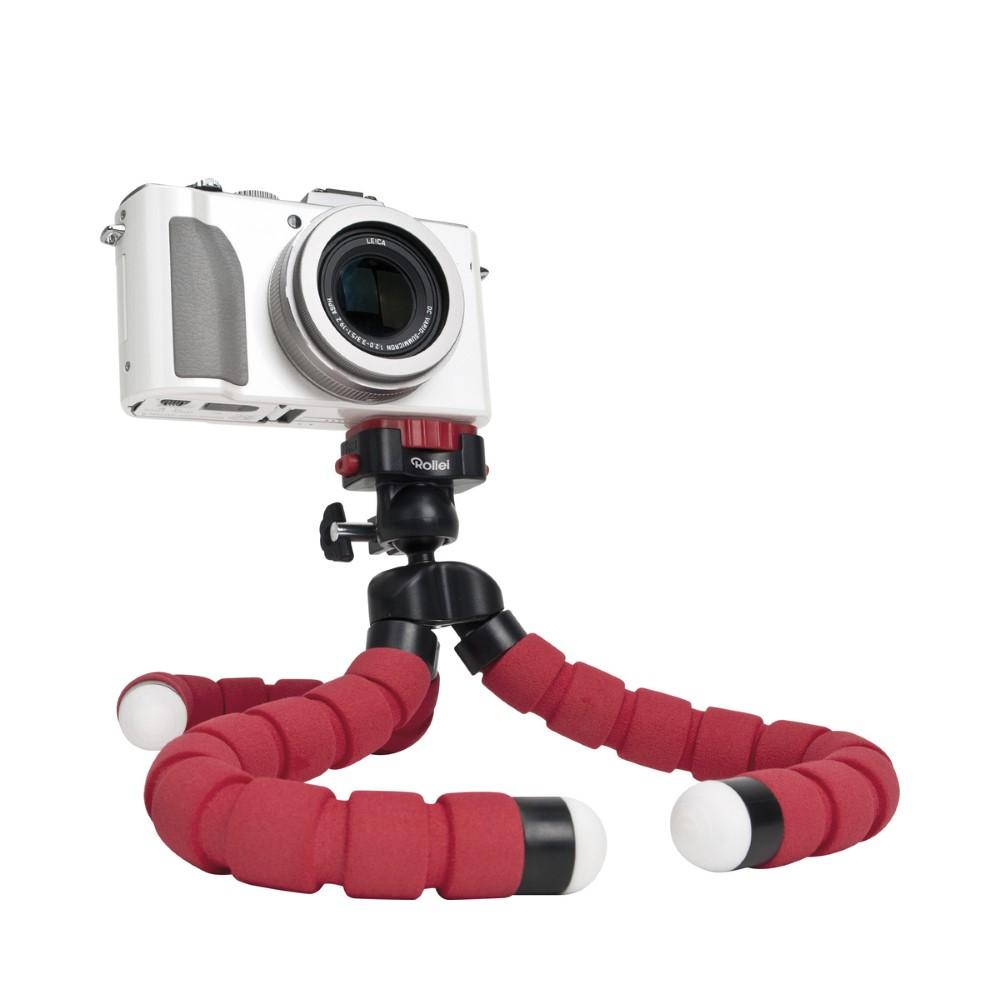 Stativ Rollei Monkey Pod červený Stativ, tvarovatelný, nosnost 1kg, červený