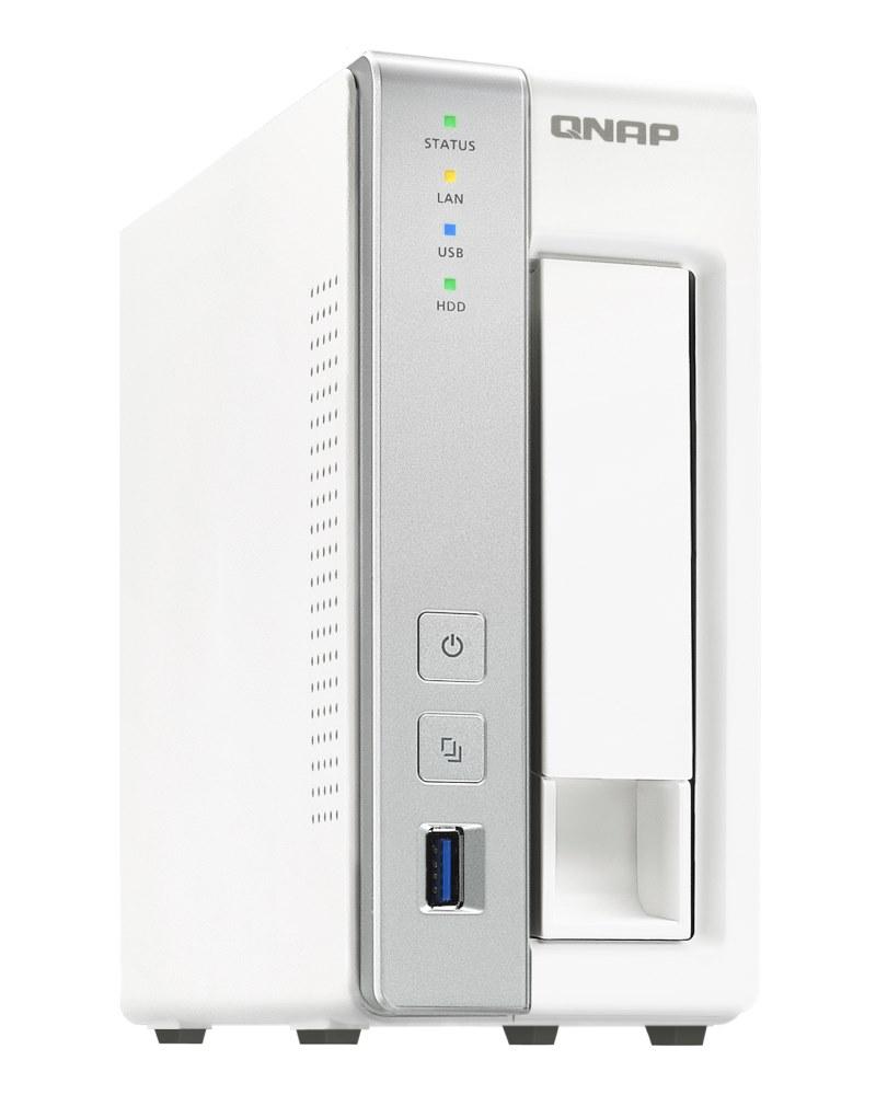 """Síťové úložiště NAS QNAP TS-131P Síťové úložiště NAS, 1x 2,5""""/3,5"""" SATA III, dual-core 1,7GHz, 1GB RAM, 1x LAN, 3x USB 3.0"""