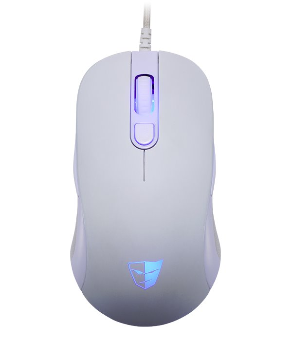 Myš Tesoro Sharur SE Spectrum bílá Myš, herní, drátová, optická, programovatelná, 4000dpi, 1000Hz, 6 tlačítek, RGB, Omron spínače, bílá
