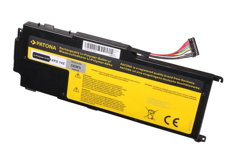 Baterie PATONA pro Dell XPS 14z 3920 mAh Baterie, pro notebook Dell XPS 14z, 3920 mAh, Li-Pol, 14,8V, kompatibilní s V79Y0