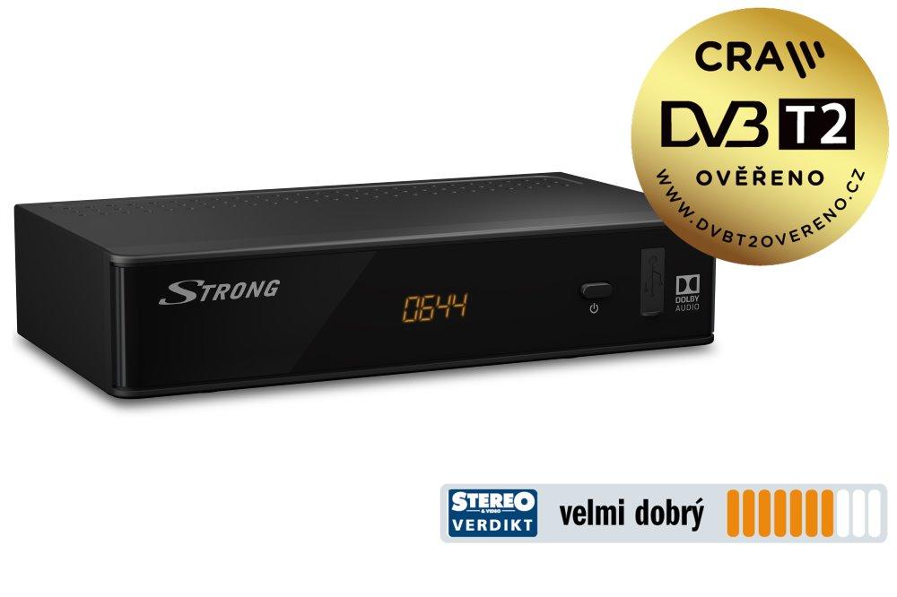 Set-top-box Strong SRT 8211 Set-top-box, DVB-T2, Full HD, H.265/HEVC, EPG, USB, HDMI, LAN, SCART, černý