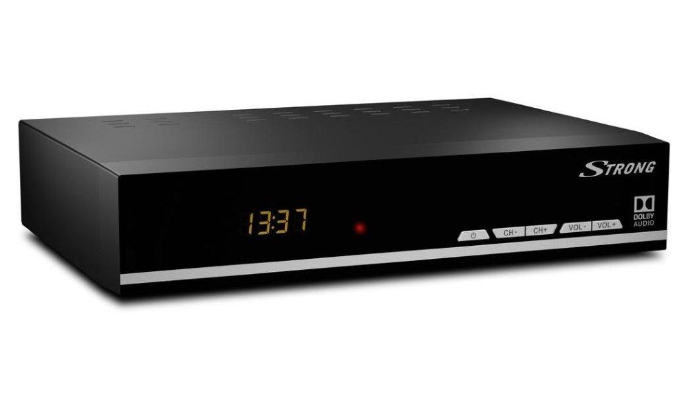 Satelitní přijímač Strong SRT 7007 Satelitní přijímač, DVB-S2, s displejem, Full HD, EPG, USB, HDMI, LAN, SCART, černý