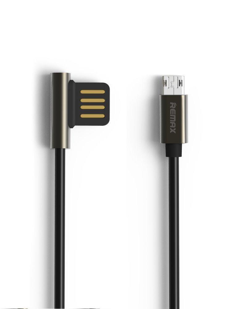 Kabel REMAX USB 2.0 na micro USB 1m černý Kabel, synchronizační a nabíjecí, USB 2.0 typ A na USB 2.0 micro B, 1m, černý - série Emperor