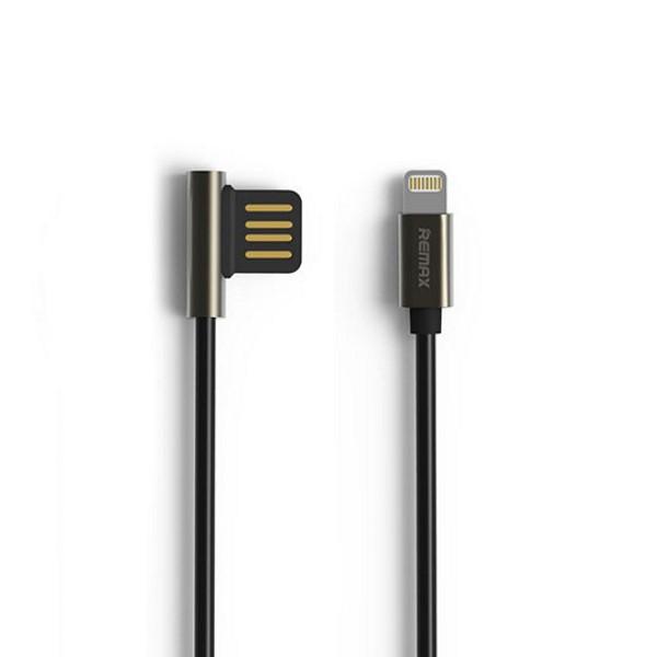 Kabel REMAX USB 2.0 na Lightning 1m černý Kabel, synchronizační a nabíjecí, USB 2.0 typ A na Lightning, 1m, černý - série Emperor