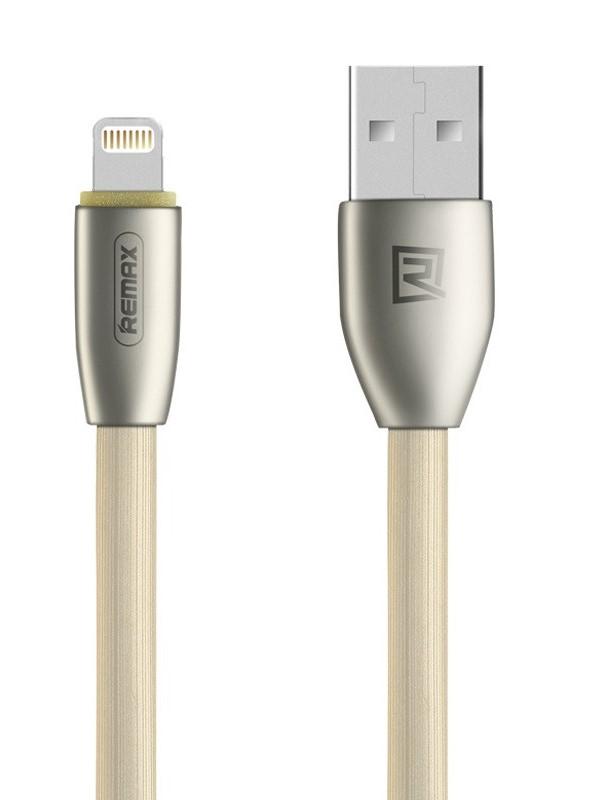 Kabel REMAX USB 2.0 na Lightning 1m zlatý Kabel, synchronizační a nabíjecí, USB 2.0 typ A na Lightning, 1m, zlatý - série Knight