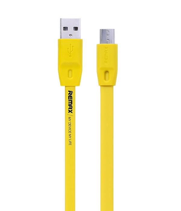 Kabel REMAX USB 2.0 na micro USB 2m žlutý Kabel, synchronizační a nabíjecí, USB 2.0 typ A na USB 2.0 micro B, 2m, žlutý - série Full speed