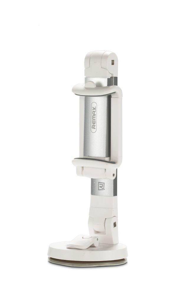 """Držák REMAX Desktop RM-C23 bílo-stříbrný Držák, univerzální, na stůl, pro mobilní telefony, podpora 3"""" - 6,5"""", bílo-stříbrná"""