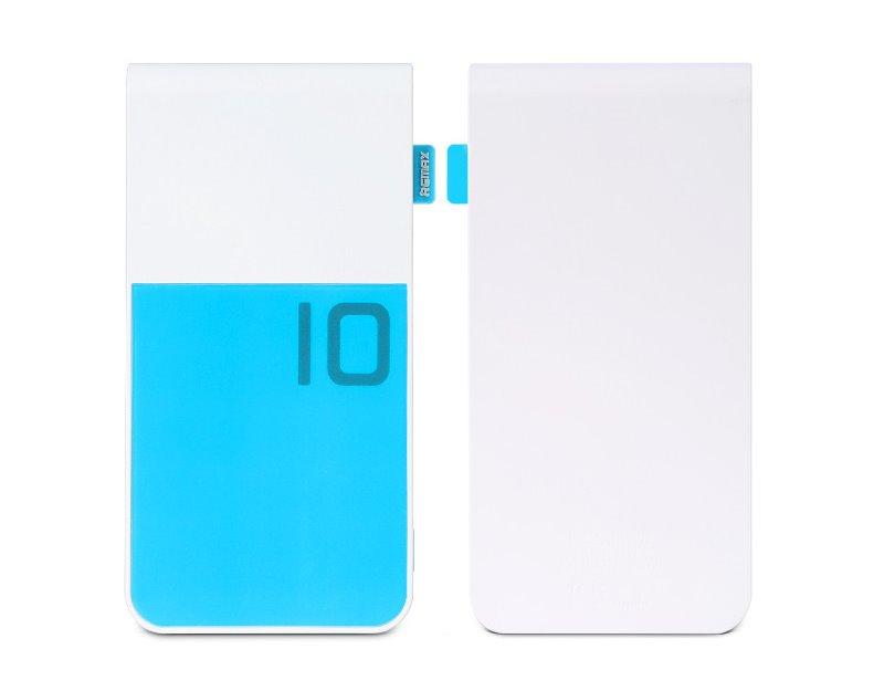 PowerBank REMAX Colorful modro-bílá PowerBank, 10000mAh, výstup 2x USB 2.0 typ A samice, modro-bílá