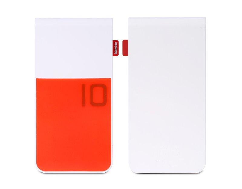 PowerBank REMAX Colorful červeno-bílá PowerBank, 10000mAh, výstup 2x USB 2.0 typ A samice, červeno-bílá