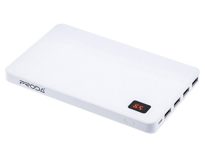 PowerBank REMAX PPP-7 bílá PowerBank, 30000mAh, výstup 4x USB 2.0 typ A samice, bílá