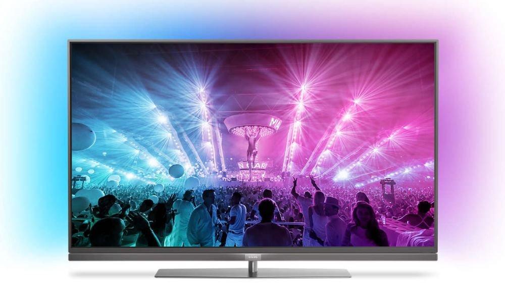 """LED televize Philips 49PUS7181 49"""" LED televize, 49"""", 4K Ultra HD 3840x2160, DVB-T2/C/S2, H.265, HEVC, 4x HDMI, 3x USB, SCART, LAN, Wi-Fi, Android, stříbrná, energ. třída A"""