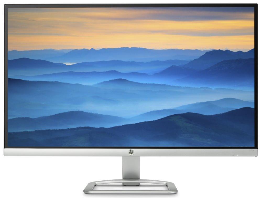 """LED monitor HP 27es 27"""" LED monitor, 27"""", 1920x1080, 1000:1, 7ms, 250cd, VGA, 2x HDMI"""