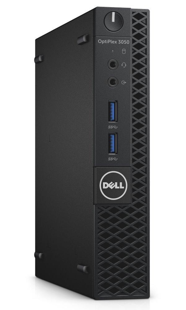 Počítač Dell OptiPlex 3050 Micro Počítač, i5-7500T, 8GB, 500GB, Wi-Fi, W10Pro, micro PC, 3YNBD on-site