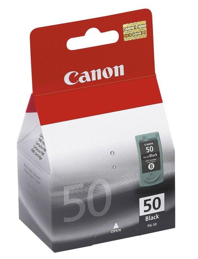 Canon inkoustová náplň PG-50Bk/ černá