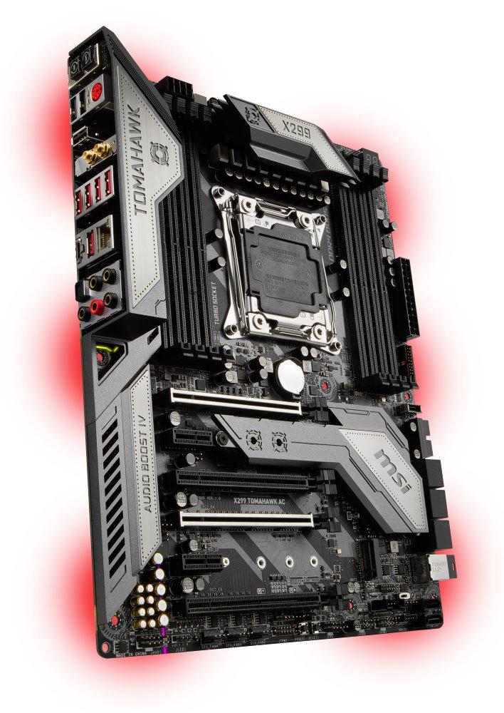 Základní deska MSI X299 TOMAHAWK AC Základní deska, Intel X299, LGA2066, 8x DDR4, ATX