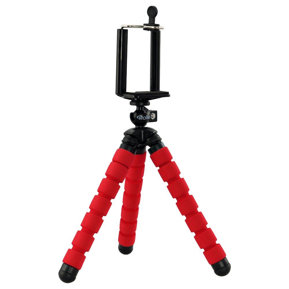 Stativ Rollei Selfie Mini červený Stativ, tvarovatelný, nosnost 500g, červený