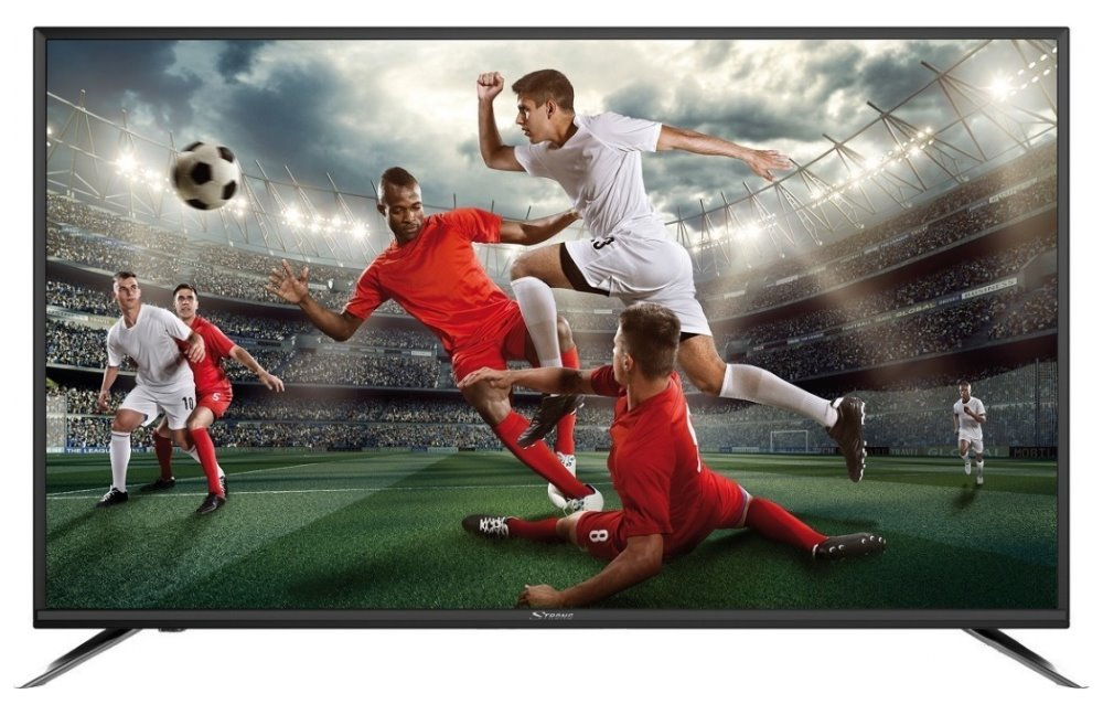 "LED televize Strong 55FX4003 55"" LED televize, 55"", Full HD 1920x1080, DVB-T2/C/S2, H.265/HEVC, 3xHDMI, 2xUSB, SCART, černá, Energet. třída A"