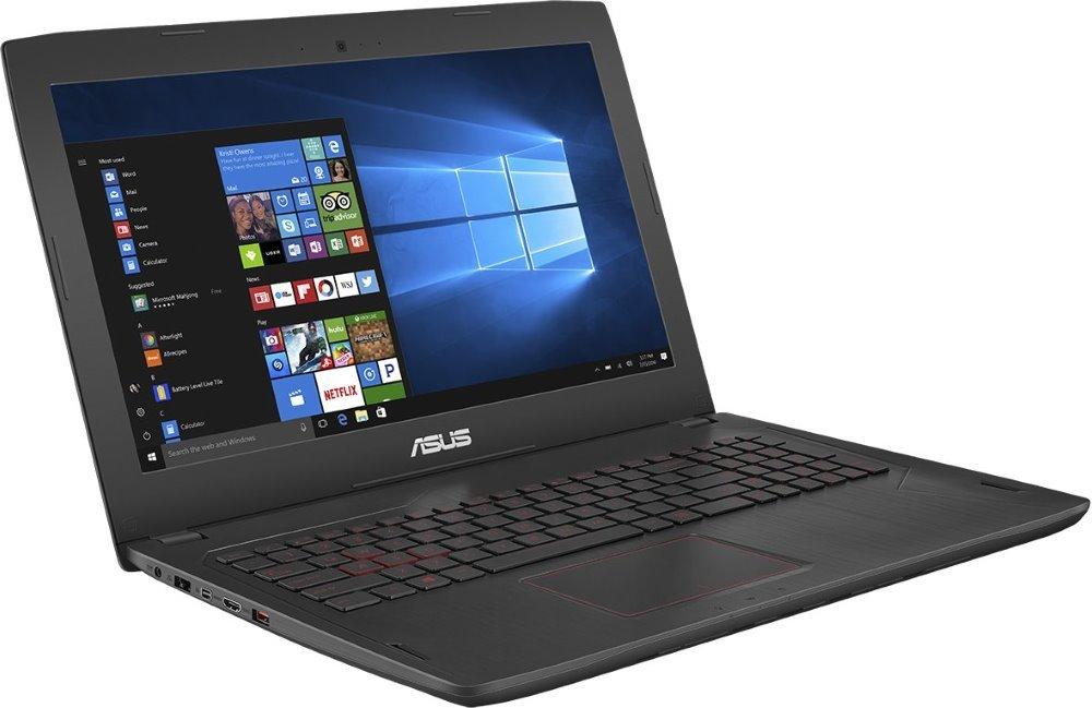 "Notebook ASUS FX502VE-FY047T Notebook, i7-7700HQ, 8GB, 1TB + 128GB, 15,6"" FullHD IPS, NVIDIA GeForce GTX 1050 Ti, W10 Home, černý"