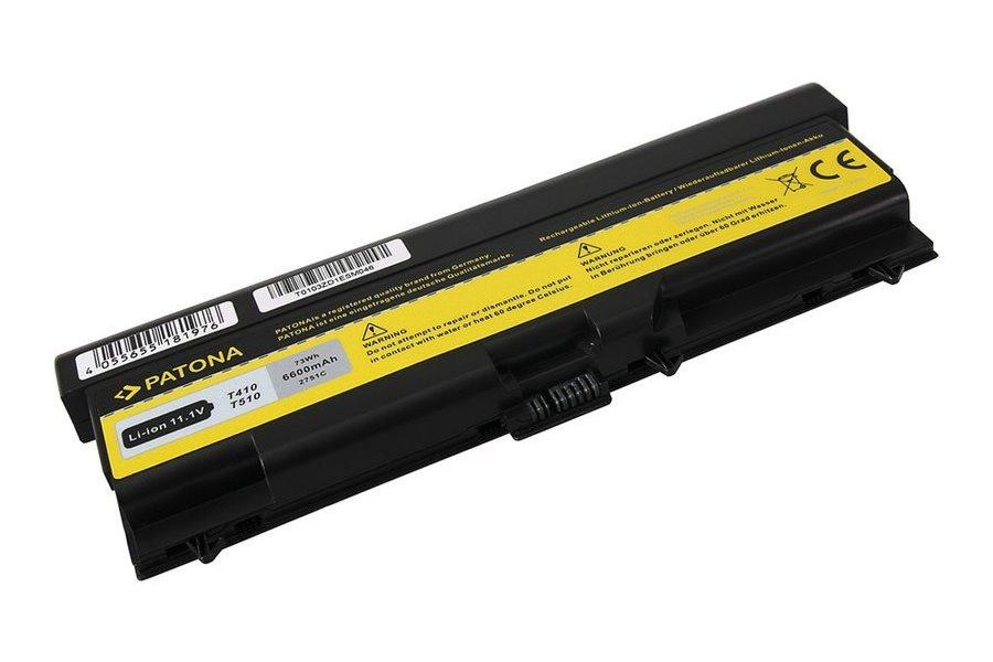 Baterie PATONA pro Lenovo 6600 mAh Baterie, pro notebook, 6600 mAh, Li-Ion, 10,8V, pro Lenovo ThinkPad E40, E50, Edge, L410, L420, L510, L520, T410, T420, T510, T520, W510, W520