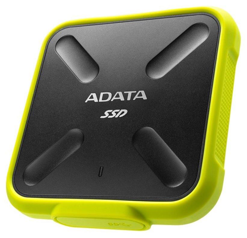 SSD disk ADATA SD700 512GB žlutý SSD disk, externí, 512GB, USB 3.1 Gen1, žlutý
