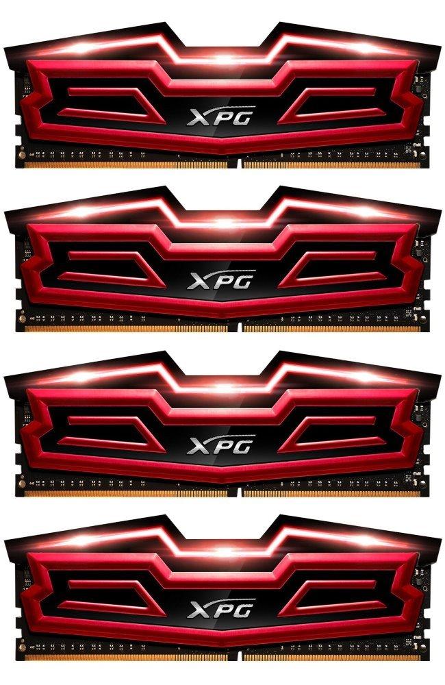 Operační paměť ADATA XPG DAZZLE 64 GB 3000 MHz Operační paměť, DDR4, 64 GB (4x 16 GB kit), 3000 MHz, DIMM, CL16, červená