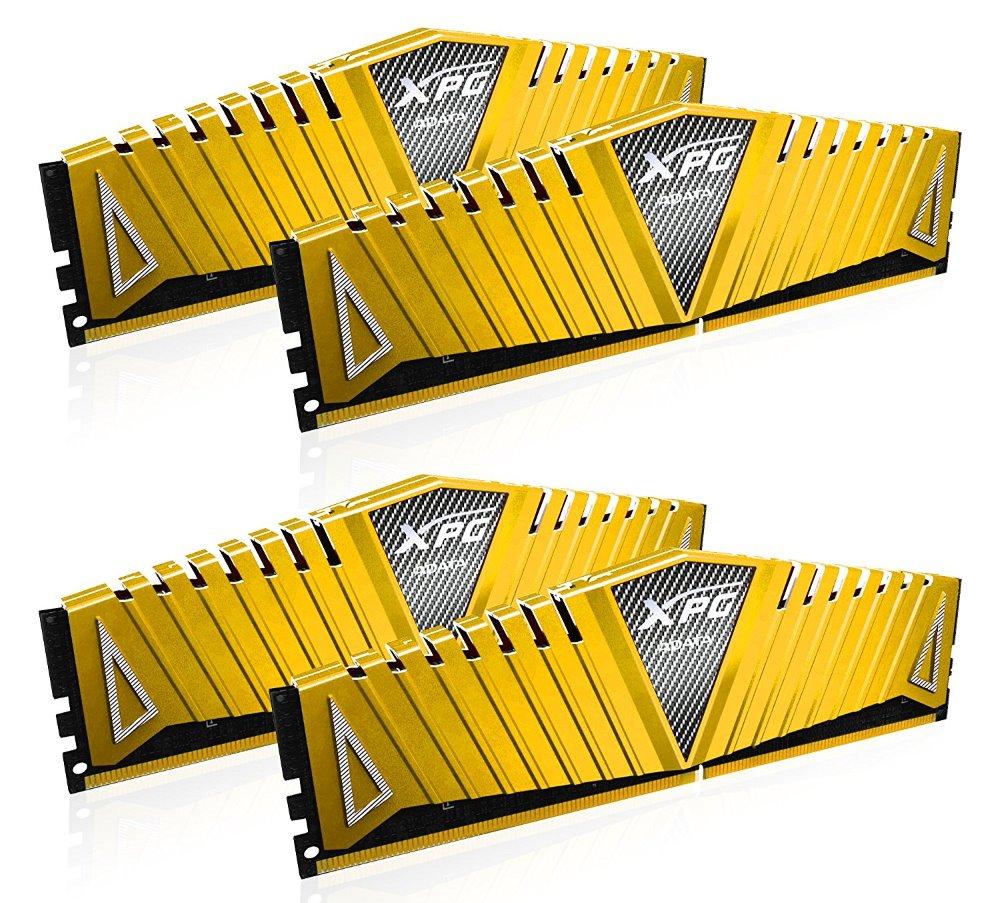 Operační paměť ADATA XPG Z1 16GB 3000MHz Operační paměť, DDR4, 16 GB (4x 4 GB kit), 3000 MHz, DIMM, CL16, zlatá