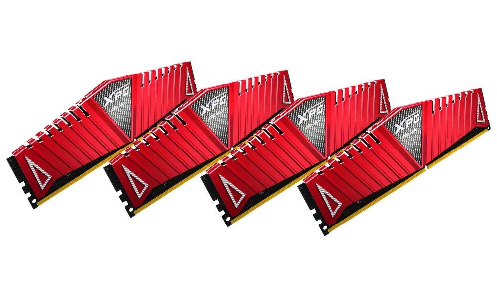 Operační paměť ADATA XPG Z1 16GB 2666MHz Operační paměť, DDR4, 16 GB (4x 4 GB kit), 2666 MHz, DIMM, CL16, červená