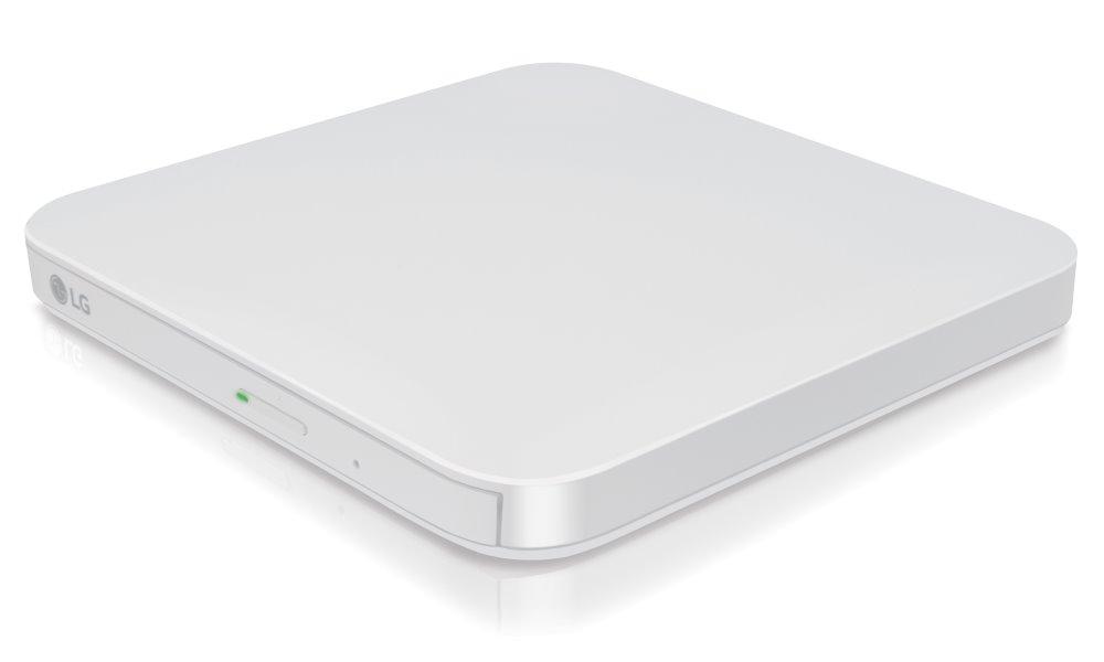 DVD mechanika LG GP95 bílá DVD mechanika, externí, DVD 8x, CD 24x, USB, M-disc, slim provedení, pro Android, bílá