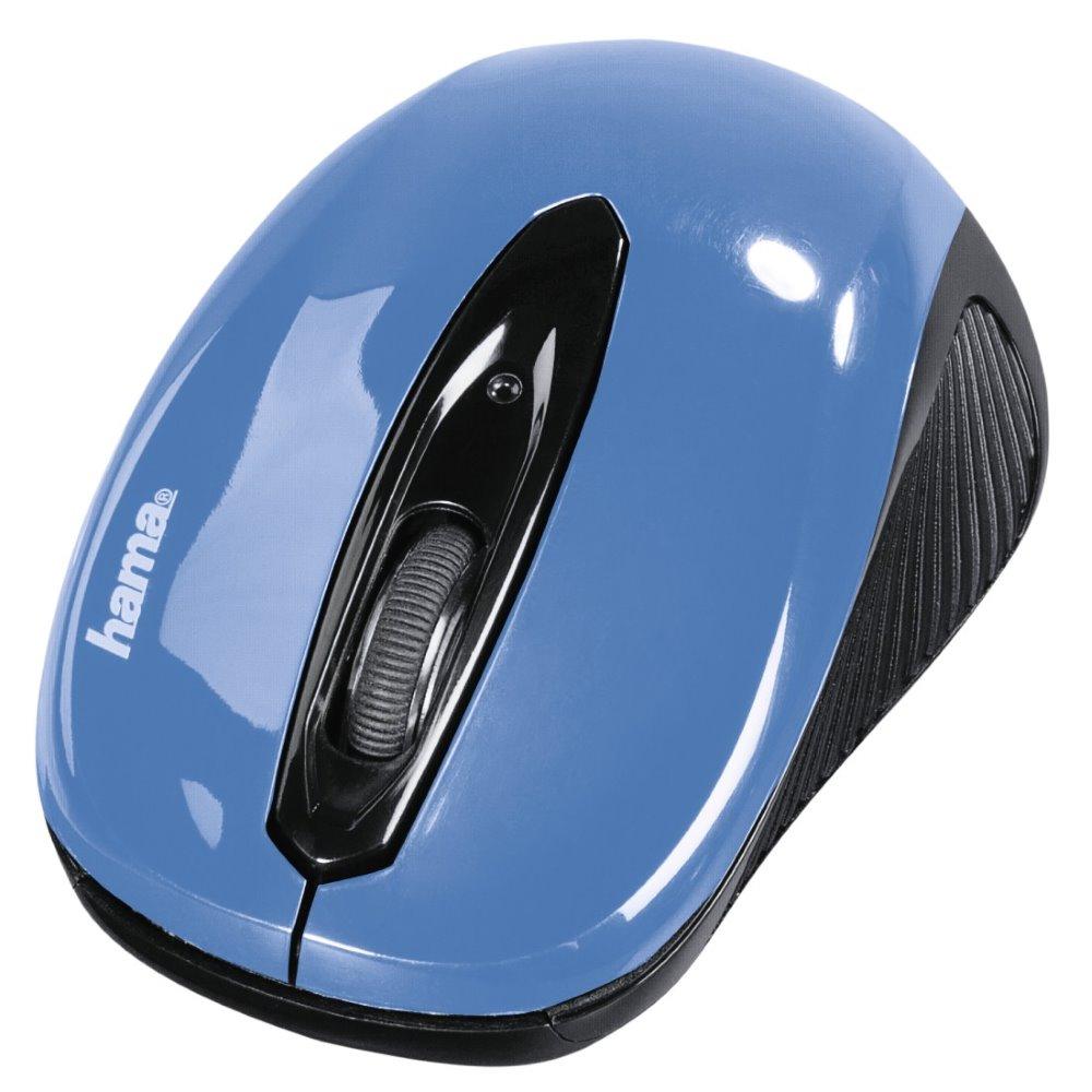 Myš Hama AM-7300 modrá Myš, bezdrátová, optická, 1000 dpi, 3 tlačítka, USB, modrá