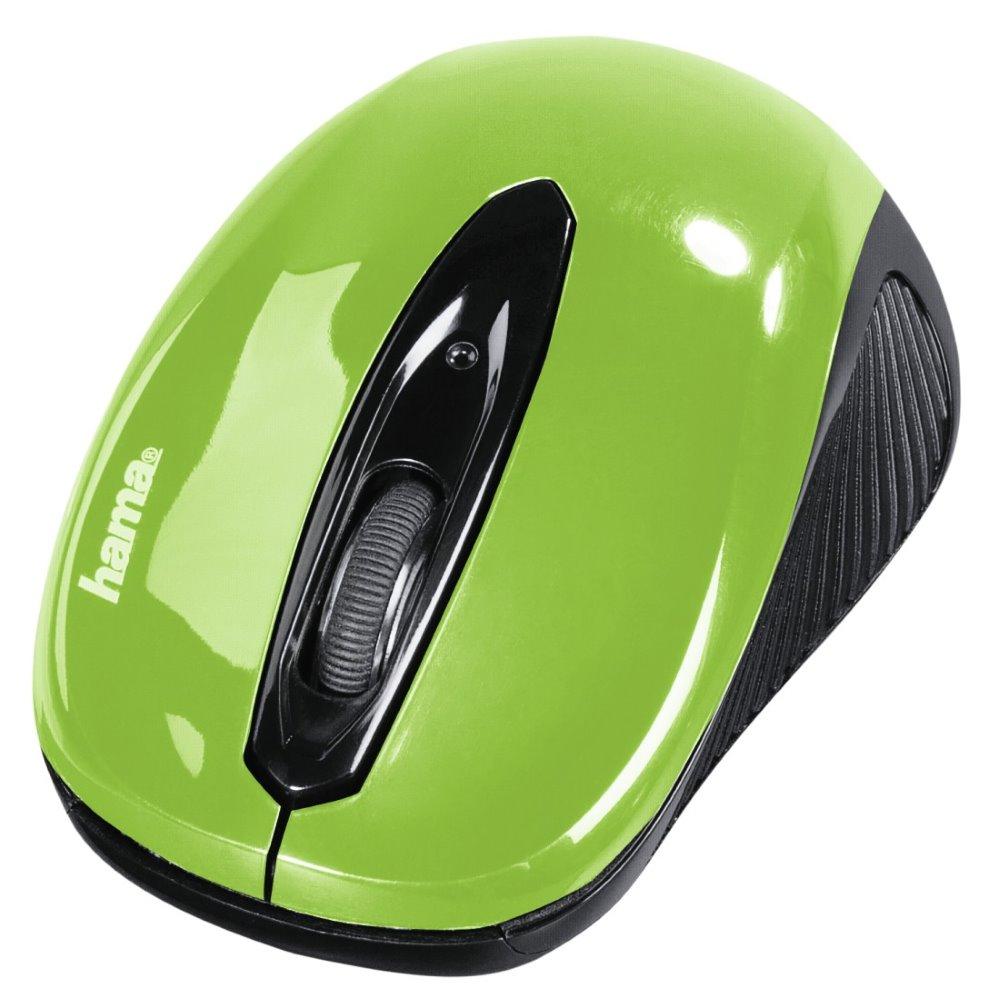 Myš Hama AM-7300 zelená Myš, bezdrátová, optická, 1000 dpi, 3 tlačítka, USB, zelená
