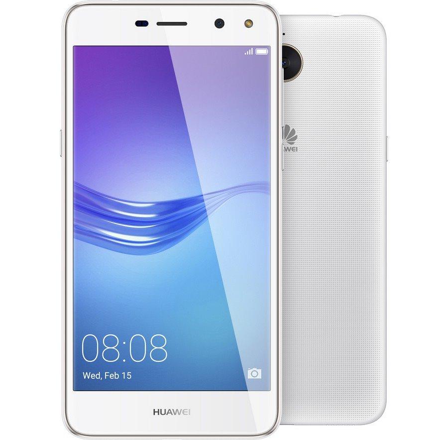 "Mobilní telefon Huawei Y6 2017 bílý Mobilní telefon, Dual SIM, Mediatek MT6737T 1,4 GHz, 2GB RAM, 16GB, LTE, 5"" HD, 13 Mpx + 5 MPx, Android 6, bílý"