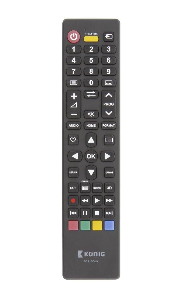 Dálkový ovladač König pro televize Sony Dálkový ovladač, univerzální, předprogramovaný, kompatibilní se všemi televizory Sony