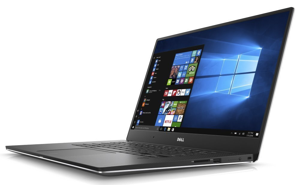 "Notebook Dell XPS 15 (9560)  Notebook, i7-7700HQ, 16GB, 512GB SSD, NVIDIA GTX 1050 4GB, 15.6"" Full HD, čtečka otisků prstů, W10 Pro, stříbrný, 3YNBD on-site"