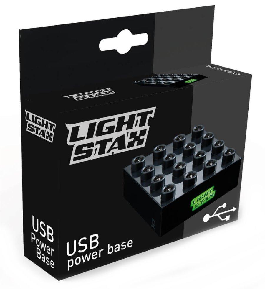 Stavebnice Light STAX chytrá základna Stavebnice, 1 dílek, svítící LED kostky, 3x AAA základna, kompatibilní s DUPLO