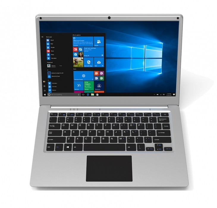 "Notebook UMAX VisionBook 14Wi-S Notebook, Intel Atom x5-Z8350, 2GB, 32GB EMMC, Intel HD 400, 14,1"" HD, Wi-Fi, W10 Home, stříbrný"
